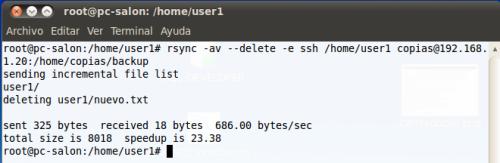 rsync --delete