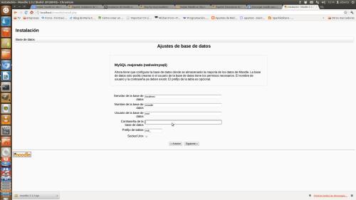 Ajustes bases de datos